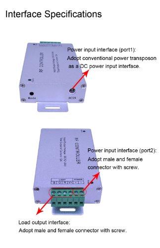 20 Key Rf Wireless Remote LED Controller 12-24v for 5050 3528 RGB LED Strip  Light