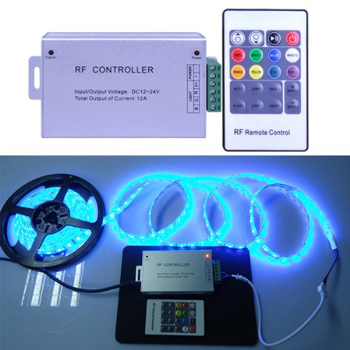 20 key rf wireless remote led controller 12 24v for 5050 3528 rgb 20 key rf wireless remote led controller 12 aloadofball Gallery